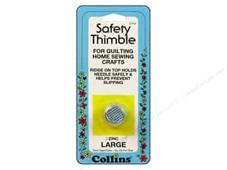 Collins Finger Protector/Thimbles: Safety Thimble by Collins Zinc Large