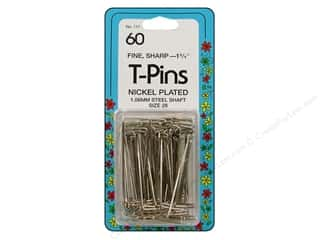 Collins Pins T-Pins 1.75&quot; 60pc