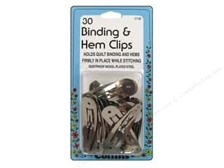 quilting notions: Collins Quilter's Clips Binding/Hem 30pc