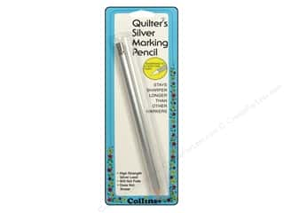 Collins Fabric Markers, Temporary & Permanent: Quilter's Silver Pencil by Collins