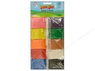 Scenics Kids Crafts: Activa Scenic Sand 10 Colors 1 oz. Assorted