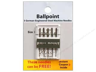 Klasse Needles Machine Ball Point Needles: Klasse Machine Needle Ball Point Size 100/16 5pc Card