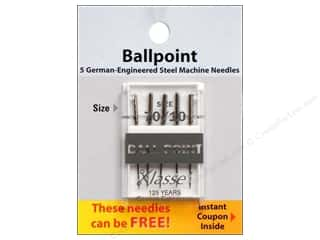 sewing machine needle threader: Klasse Machine Needle Ball Point Size 70/10 5pc Card