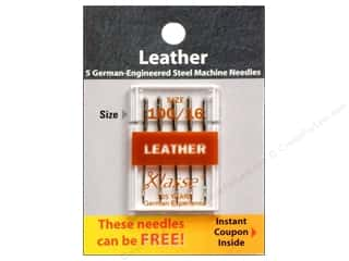 sewing machine needle threader: Klasse Machine Needle Leather Size 100/16 5pc Card