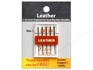 sewing machine needle threader: Klasse Machine Needle Leather Size 90/14 5pc Card