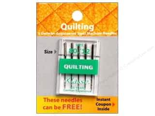 Needles / Machine Needles $4 - $5: Klasse Machine Needle Quilting Size 80/12 5pc Card