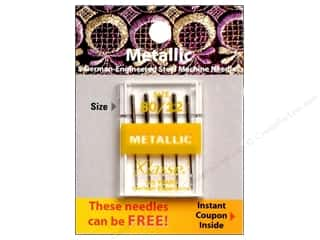 Needles / Knitting Needles Spring Cleaning Sale: Klasse Machine Needle Metallic Size 80/12 5pc Card