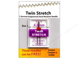 Quilting $0 - $4: Klasse Machine Needle Twin Stretch Size 75 4.0mm 1pc Card