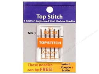 sewing machine needle threader: Klasse Machine Needle Topstitch Size 90/14 5pc Card