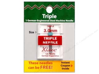 Klasse Needles Klasse Machine Needle Universal: Klasse Machine Needle Triple 1pc Card