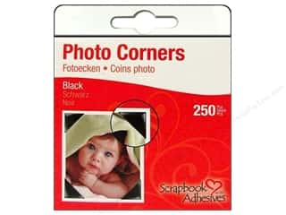3L Scrapbook Adhesives Photo Corners 250pc Black