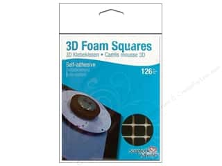 3L Width: 3L Scrapbook Adhesives 3D Foam Squares 126 pc. 1/2 in. Black
