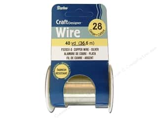 Wirework Darice Craft Wire: Darice Craft Wire 28Ga Silver 40yd