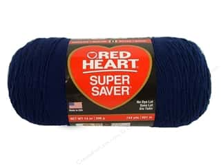 Red Heart Super Saver Jumbo Yarn Soft Navy 14 oz.