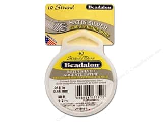 Wire Beadalon Bead Wire: Beadalon Bead Wire 19 Strand .018 in. Satin Silver 30 ft.