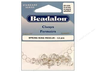 Beadalon Jump Rings/Spring Rings: Beadalon Spring Ring Clasps 7 mm Silver 12 pc.