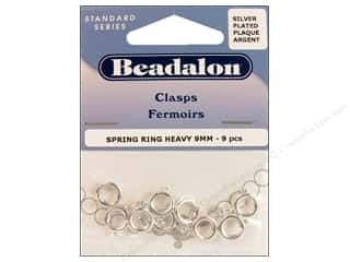 Spring: Beadalon Spring Ring Clasps 9 mm Silver 9 pc.