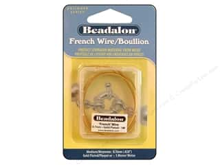 Beading & Jewelry Making Supplies: Beadalon French Wire Medium .7mm ID 1M Gld