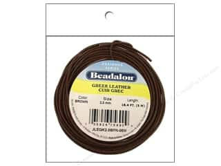 Beadalon Greek Leather Cording: Beadalon Greek Leather Cord 2.0mm Brwn 5M/16.4 ft