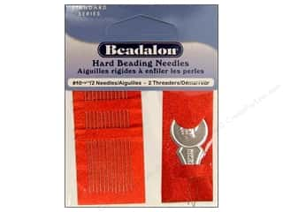 Beadalon hand Needles: Beadalon Hard Beading Needles Size 10 12 pc.