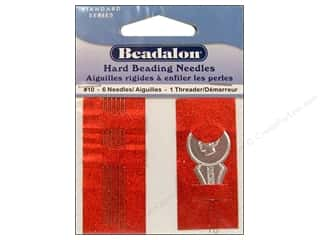 Beadalon Needles: Beadalon Hard Beading Needles Size 10 6 pc.