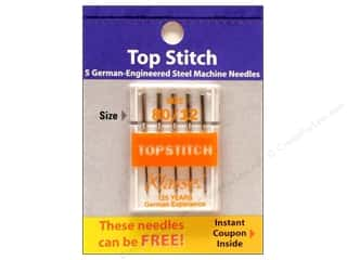 Brothers Needles / Machine Needles: Klasse Machine Needle Topstitch Size 80/12 5pc Card