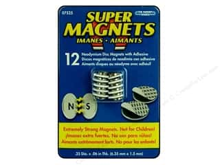 "The Magnet Source Magnet Neodymium Disc 1/4"" 12pc"