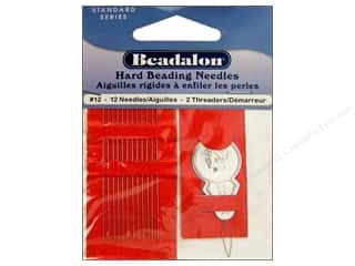 Beadalon hand Needles: Beadalon Hard Beading Needles Size 12 12 pc.
