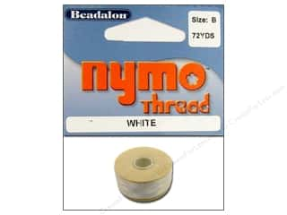 Beadalon Nymo Thread Size B White 72 yd.