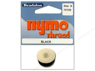 Beadalon Nymo Thread Size B Black 72 yd