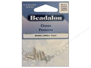 beadalon clasp: Beadalon Barrel Clasps 8mm Small Silver 8 pc