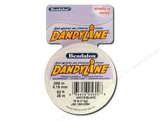 Threads Beading & Jewelry Making Supplies: Beadalon DandyLine Beading Thread 0.15 mm White 82 ft.