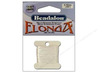 Beadalon Elonga Stretchy Bead Stringing Cord: Beadalon Stretchy Bead Stringing Cord .7 mm White 16.4 ft.