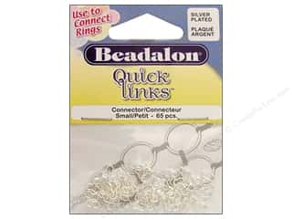 Beadalon Connectors Quick Links Sm Silver 65pc