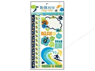 Blank Card & Envelopes: Bo Bunny Rub On Large Barefoot & Bliss