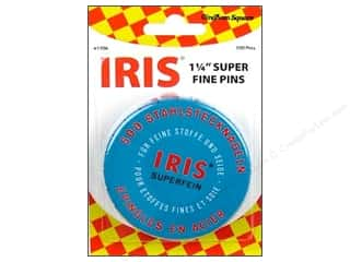Clearance Blumenthal Favorite Findings: Gingham Square Iris Swiss Super Fine Pin 500pc