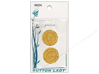 JHB Button Lady Buttons Bright Gold 3/4&quot; 2pc