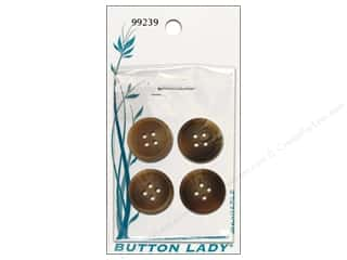 JHB Button Lady Buttons 5/8 in. Brown #99239 4 pc.
