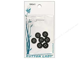 JHB: JHB Button Lady Buttons 1/2 in. Black #99041 7 pc.