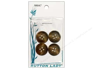 JHB Button Lady Buttons 3/4 in. Brown #99047 4 pc.
