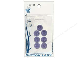 JHB Button Lady Buttons 1/2 in. Lavender #99183 7 pc.