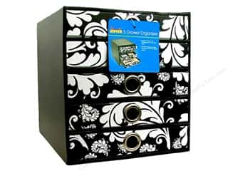scrapbooking storage: Cropper Hopper Cabinet Stamp Black & White