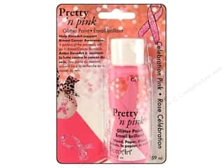 DecoArt Pretty 'n Pink Glitter Paint Celebrtn 2oz