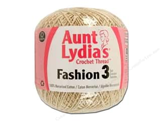 Pearl Cotton $21 - $23: Aunt Lydia's Fashion Crochet Thread Size 3 #226 Natural