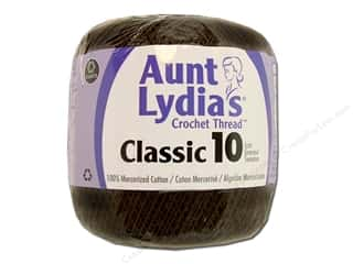 Aunt Lydia&#39;s Classic Crochet Thread Size 10 Fudge Brown