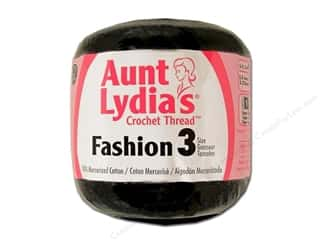 Aunt Lydia's Fashion Crochet Thread Size 3 Black