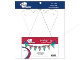 Eco Friendly /Green Products Paper Accents Chipboard Pennants: Paper Accents Chipboard Pennants 4 x 6 in. Scalloped Top 9 pc. White