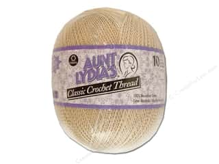 Warm and Natural Home Decor: Aunt Lydia's Classic Cotton Crochet Thread Size 10 Natural Jumbo 2730 yd.