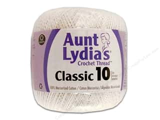 Star Thread $8 - $10: Aunt Lydia's Classic Cotton Crochet Thread Size 10 White