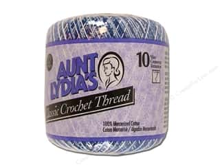Aunt Lydia's Classic Crochet Thread Size 10 Shaded Blues